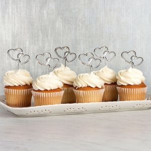 Other - 12pc Intertwined Heart Cake Toppers